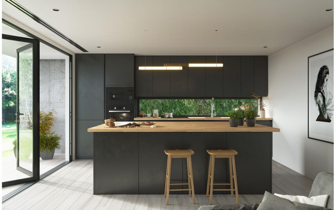 Modelo BORA la cocina en negro que marca tendencia